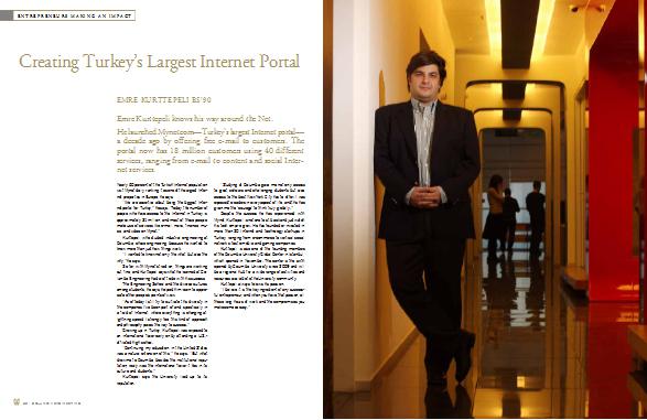 Creating Turkey's Largest Internet Portal   Emre Kurttepeli BS'90